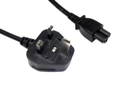 Generic 2.0m UK Mains C5 Power Cable (Clover Leaf)