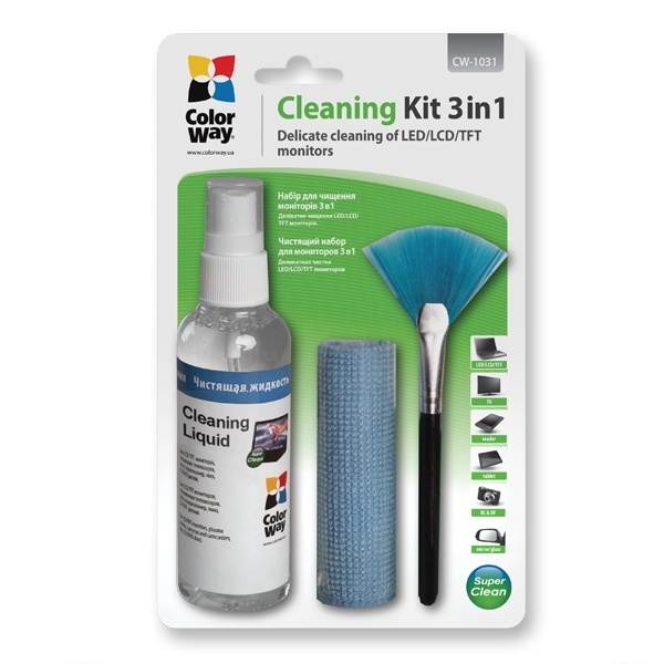 Scanstation Colorway Multipurpose 3 in 1 Cleaner Set