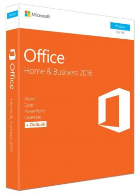 Microsoft Office Home & Business 2016 Software 1 PC