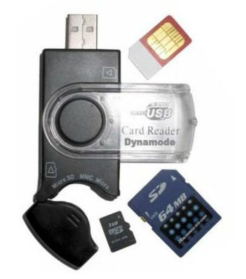 Generic USB Mobile SIM and Memory Card Reader