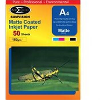 Scanstation Matte Finish Paper 180gsm A4 50 Pack