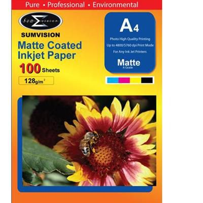 Scanstation Matte Finish Paper 130gsm A4 100 Pack