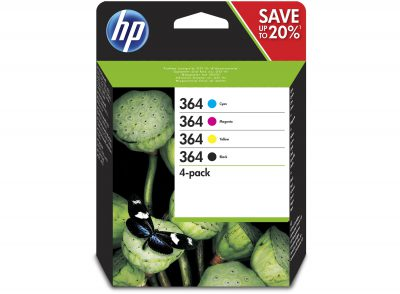 HP Original 364 Combo Pack 250 Page Black & 3 Colours