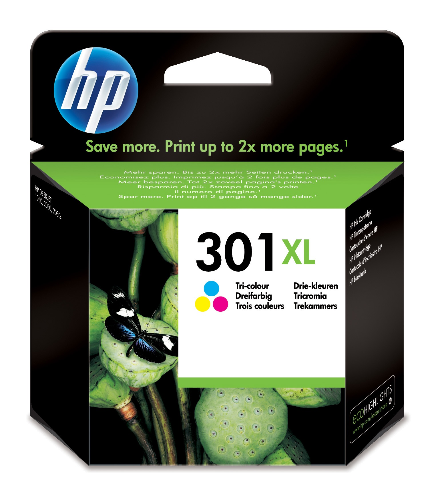 HP Original No 301XL Colour CMY Ink