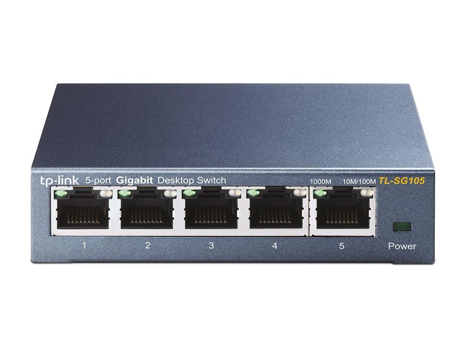 TP-Link 5 port Gigabit Switch Plastic Case TL-SG1005D