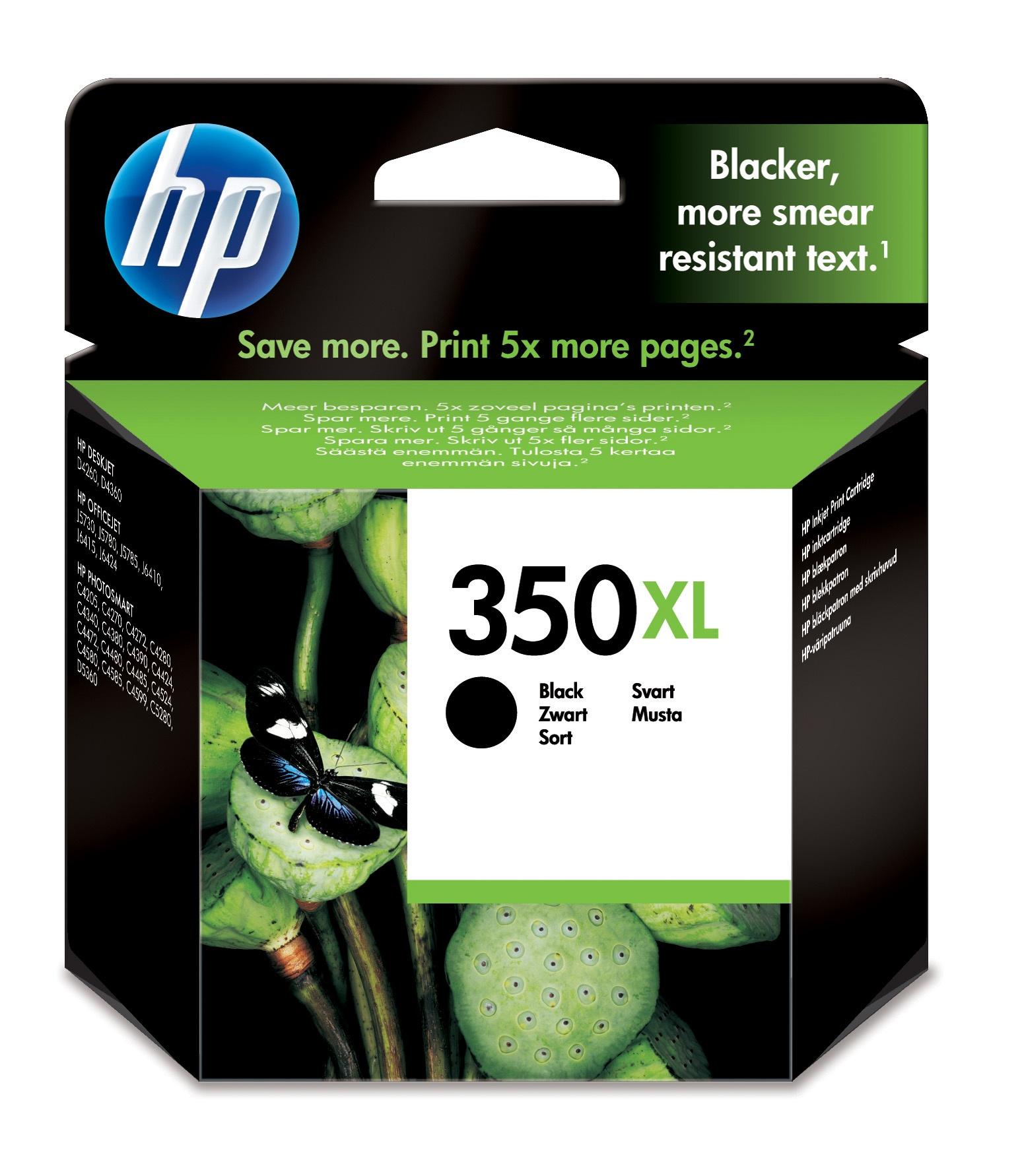 HP Original No 350XL Black Ink
