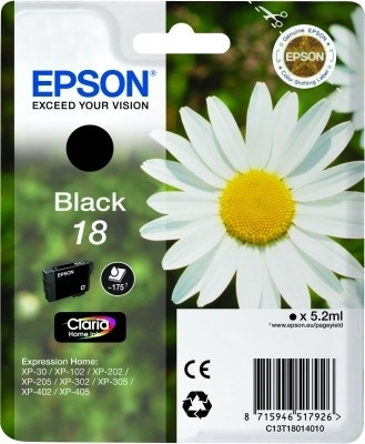 Epson Original 18 Black Ink (Daisy)