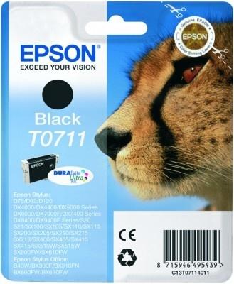 Epson Original T0711 Black Ink (Cheetah)
