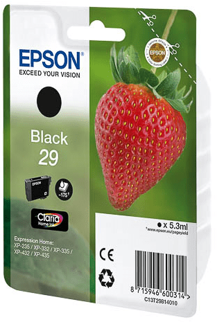 Epson Original 29 Black Ink (Strawberry)