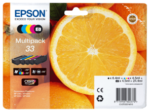 Epson Original 33 Multipack 5 Colour CMYB Ink (Orange)