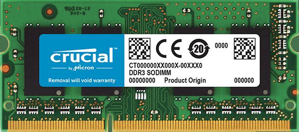 Crucial 8GB DDR3L 1600MHz/PC3-12800 SODIMM