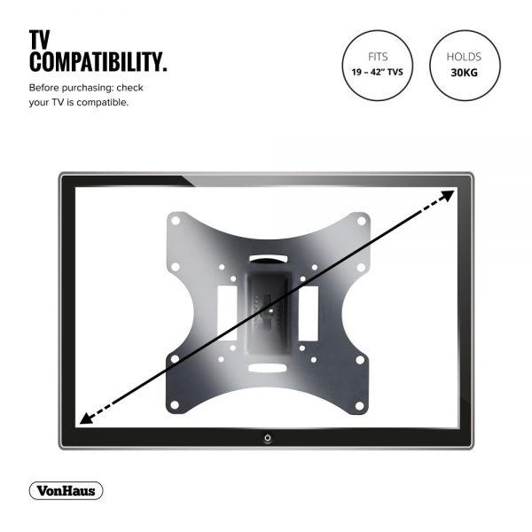 "Generic Wall Mount VESA Bracket Suitable for 10"" to 23"" Monitors TVs"