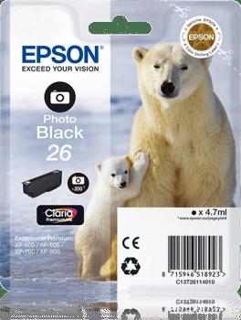 Epson Original 26 Photo Black Ink (Polar Bear)