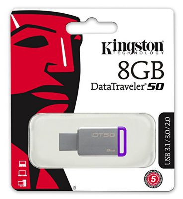 8GB Data Traveler DT50 USB Memory Stick