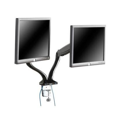 VonHaus Double Arm Monitor Desk Gas Mount Stand